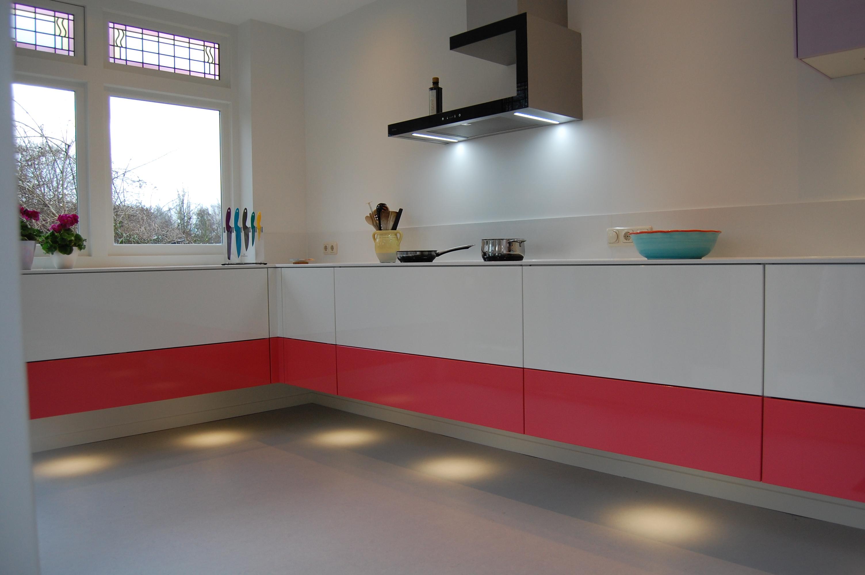 Muur ontwerp met kleur strepen gehoor geven aan uw huis - Keuken muur kleur idee ...